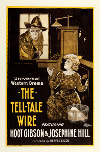 "The Tell-Tale Wire (Universal, 1919). One Sheet (27.5"" X 42"")"