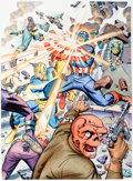 Original Comic Art:Illustrations, Steve Rude - Captain America and the Guardian CommissionIllustration Original Art (2000)....