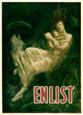 "Movie Posters:War, World War I Propaganda (Boston Public Safety Committee, 1915). Recruitment Poster (23.5"" X 32.75"") ""Enlist,"" Fred Spear Artw..."