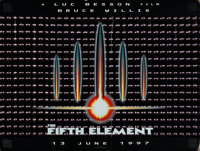 "The Fifth Element (Columbia, 1997). Holographic British Quad (30"" X 40"") Advance. From the collection of David..."