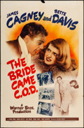 """Movie Posters:Comedy, The Bride Came C.O.D. (Warner Brothers, 1941). One Sheet (27"""" X41""""). Comedy.. ..."""