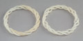 Asian:Chinese, A Pair of Chinese Carved and Articulated White Jade Bangles. 2-7/8inches (7.3 cm) (each). ... (Total: 2 Item...
