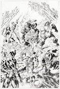 Original Comic Art:Covers, Mike Deodato, Jr. Thunderbolts #110 Variant Cover OriginalArt (Marvel, 2007)....