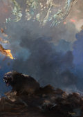 Original Comic Art:Paintings, Frank Frazetta - Demons and Bear Painting Original Art (c.1980-90s)....