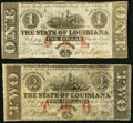 Obsoletes By State:Louisiana, Baton Rouge, LA- State of Louisiana $1; $2 Feb. 24, 1862 Cr. 3; Cr. 2. ... (Total: 2 notes)