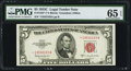 Small Size:Legal Tender Notes, Fr. 1535* $5 1953C Legal Tender Star Note. PMG Gem Uncirculated 65 EPQ.. ...