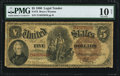 Large Size:Legal Tender Notes, Fr. 72 $5 1880 Legal Tender PMG Very Good 10 Net.. ...
