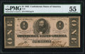 Confederate Notes:1862 Issues, T55 $1 1862 PF-7 Cr. 398 PMG About Uncirculated 55.. ...