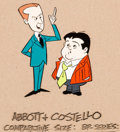 Animation Art:Color Model, The Abbott and Costello Cartoon Show Bud and Lou Color Model(Hanna-Barbera, 1967)....