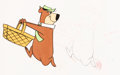 Animation Art:Production Cel, The Yogi Bear Show Production Cel and Animation Drawing(Hanna-Barbera, c. 1960s).... (Total: 2 Items)