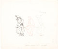 Animation Art:Production Drawing, Invitation to the Dance Layout Drawing (MGM, 1956)....