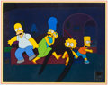 Animation Art:Production Cel, The Simpsons Entire Family Production Cel Setup (Fox,1999).... (Total: 2 )