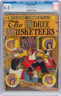 Golden Age (1938-1955):Adventure, Classic Comics #1 The Three Musketeers HRN 15 (Gilberton, 1943) CGC FN+ 6.5 Cream to off-white pages....