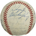 Autographs:Baseballs, 1992 St. Louis Cardinals Team Signed Baseball. A whopping 30signatures from the 1992 St. Louis Cardinals appear on the sur...