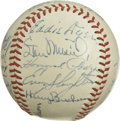 Autographs:Baseballs, 1948 St. Louis Cardinals Team Signed Baseball. Here we present astar-laden St. Louis Cardinals orb from the tail end of a ...