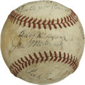 Autographs:Baseballs, 1942 Brooklyn Dodgers Team Signed Baseball. In 1942 the BrooklynDodgers fielded a strong team, but finished the season two...