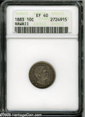 Coins of Hawaii: , 1883 10C Hawaii Ten Cents XF40 ANACS. ...