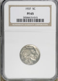 Proof Buffalo Nickels: , 1937 5C PR65 NGC. NGC Census: (346/766). PCGS Population(601/1085). Mintage: 5,769. Numismedia Wsl. Price for NGC/PCGScoi...