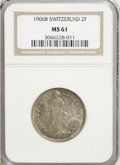 Switzerland:Helvetic Confederation, Switzerland: Confederation silver 2 Francs 1906-B...