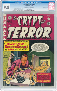 Crypt of Terror #18 Gaines File Pedigree (EC, 1950) CGC NM/MT 9.8 Off-white to white pages