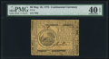 Continental Currency May 10, 1775 $6 PMG Extremely Fine 40 EPQ