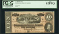Confederate Notes:1864 Issues, T68 $10 1864 PF-44 Cr. 552 PCGS New 62PPQ.. ...
