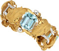 Estate Jewelry:Bracelets, Aquamarine, Gold Bracelet . ...