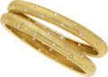 Estate Jewelry:Bracelets, Diamond, Gold Bracelets . ... (Total: 2 Items)