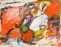Works on Paper, Milton Resnick (1917-2004). Untitled, 1955. Oil on paper. 19-3/4 x 26 inches (50.2 x 66.0 cm). Signed and dated lower ri...