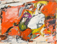 Milton Resnick (1917-2004) Untitled, 1955 Oil on paper 19-3/4 x 26 inches (50.2 x 66.0 cm) Sig