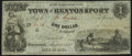 Obsoletes By State:Iowa, Bentonsport, IA- Town of Bentonsport $1 Aug. 1857 Very Fine.. ...