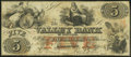 Obsoletes By State:Maryland, Hagerstown, MD- Valley Bank of Maryland $5 Jan. 31, 1855 Fine-Very Fine.. ...