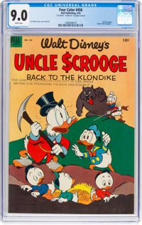 Four Color #456 Uncle Scrooge (Dell, 1953) CGC VF/NM 9.0 White pages