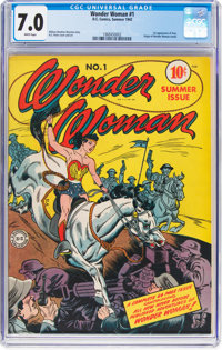 Wonder Woman #1 (DC, 1942) CGC FN/VF 7.0 White pages