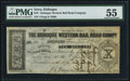 Obsoletes By State:Iowa, Dubuque, IA- Dubuque Western Rail Road Compy. $10 Dec. 8, 1857 PMGAbout Uncirculated 55.. ...