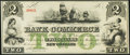 Obsoletes By State:Louisiana, New Orleans, LA- Bank of Commerce $2 Post Note May 5, 1862 Remainder Extremely Fine-About Uncirculated.. ...