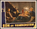 "Movie Posters:Horror, Son of Frankenstein (Universal, 1939). Lobby Card (11"" X 14""). Horror.. ..."