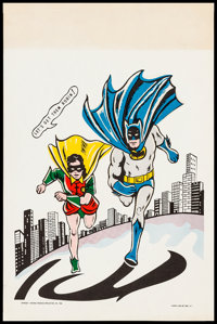 Batman & Robin (National Periodical Publications, 1966). Rolled, Very Fine-. Glow-in-the-Dark Comic Book Poster (13...