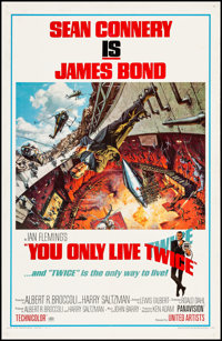 """You Only Live Twice (United Artists, 1967). One Sheet (27"""" X 41""""). Artwork by Frank McCarthy with Robert McGin..."""