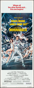 "Movie Posters:James Bond, Moonraker (United Artists, 1979). Insert (14"" X 36""). Artwork by Dan Gouzee. James Bond.. ..."