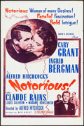 """Movie Posters:Hitchcock, Notorious (Seiznick, R-1954). One Sheet (27"""" X 41""""). Hitchcock.. ..."""