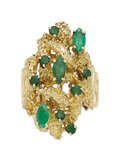 Estate Jewelry:Rings, Emerald, Gold Ring . ...