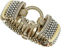 Estate Jewelry:Bracelets, Diamond, Gold, Sterling Silver Bracelet, Lagos. ...