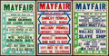 """Movie Posters:Miscellaneous, Movie Theater Listings (1937 & 1939). Movie Theater Window Cards (5) (Approx. 14"""" X 22""""). Miscellaneous.. ... (Total: 5 Items)"""