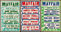 """Movie Theater Listings (1937 & 1939). Movie Theater Window Cards (5) (Approx. 14"""" X 22""""). Miscellaneous..."""