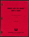 "Movie Posters:Action, Smokey and the Bandit II (Universal, 1980). Final Draft Script (102 Pages, 8"" X 11""). Action.. ..."