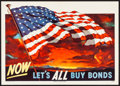 "Movie Posters:War, Korean War Propaganda (U.S. Government Printing Office, 1950). U.S. Treasury Poster (18.5"" X 26"") ""Now Let's All Buy Bonds.""..."