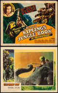 "Movie Posters:Adventure, Jungle Book & Other Lot (United Artists, 1942). Title Lobby Card & Lobby Card (11"" X 14""). Adventure.. ... (Total: 2 Items)"