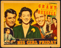 """Movie Posters:Comedy, His Girl Friday (Columbia, 1940). Lobby Card (11"""" X 14""""). Comedy....."""