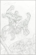 Original Comic Art:Covers, John Watson World War Hulk: Front Line #2 Cover Original ArtGroup of 2 (Marvel, 2007).